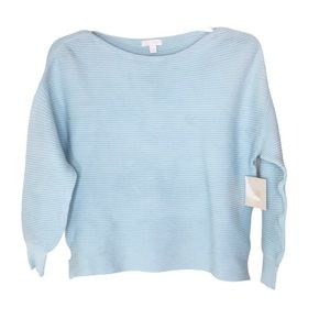 14th & Union Light Blue Ribbed Sweater Small Petit